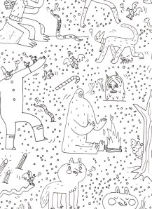 GIANT LOOK-AND-FIND COLORING POSTER