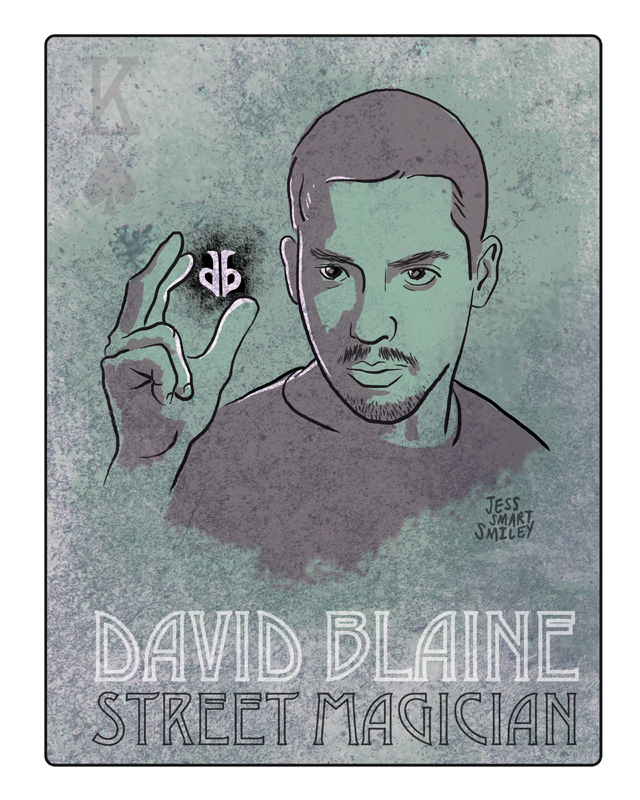 David Blaine by Illustrator Jess Smart Smiley