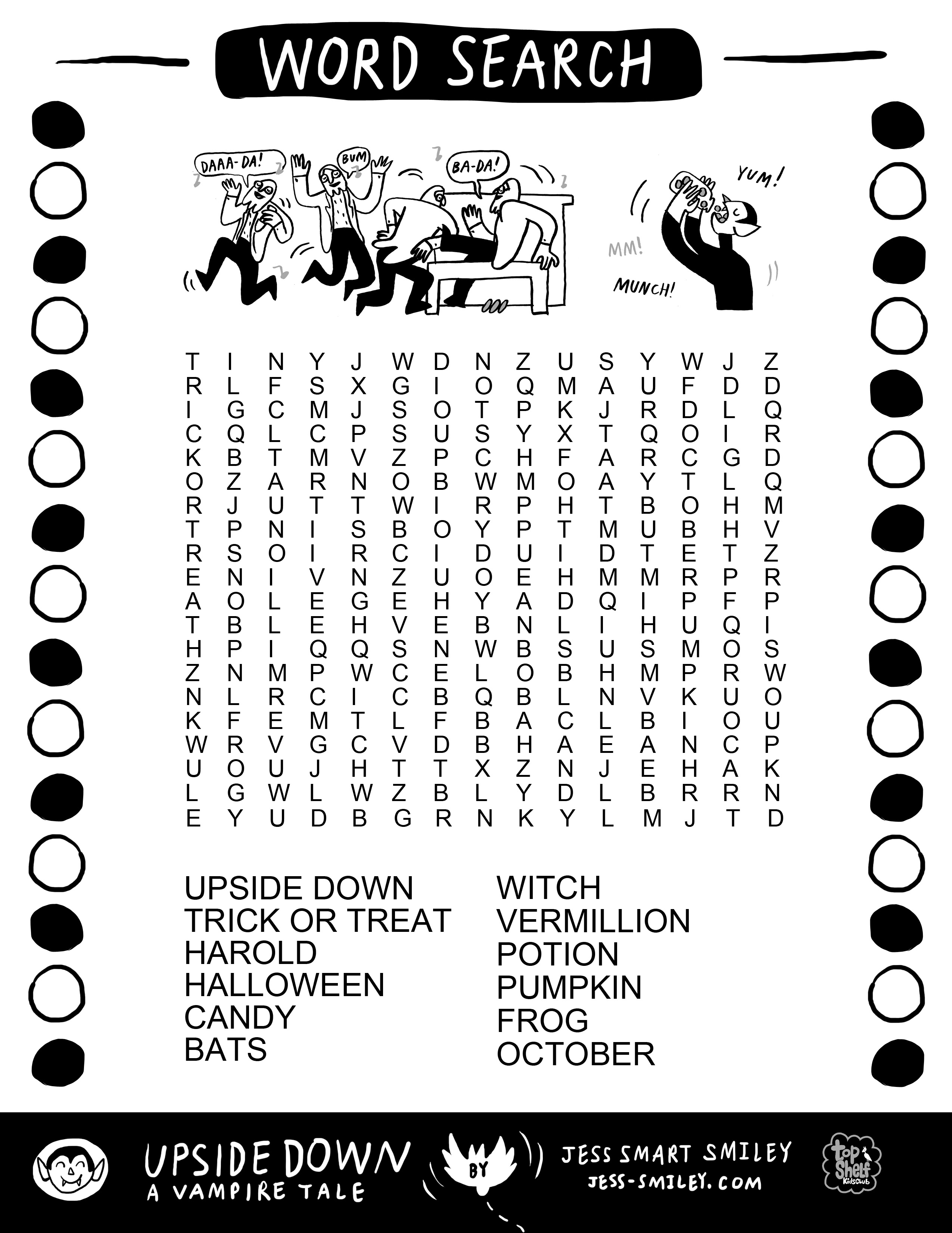 Happy October  Free Halloween Activity Page  Jess Smart Smiley