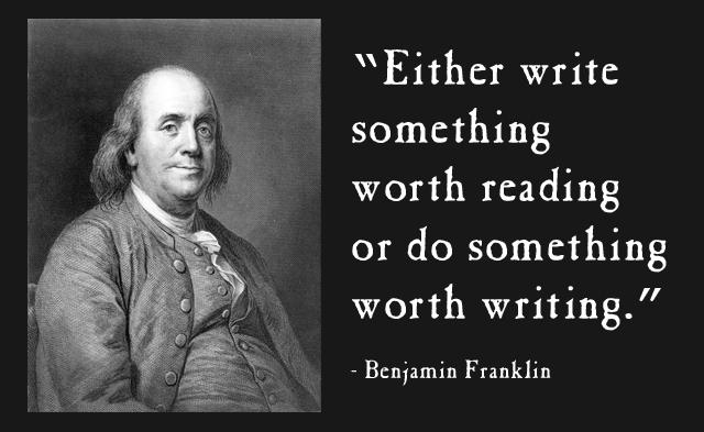 Benjamin Franklin Writing Quote