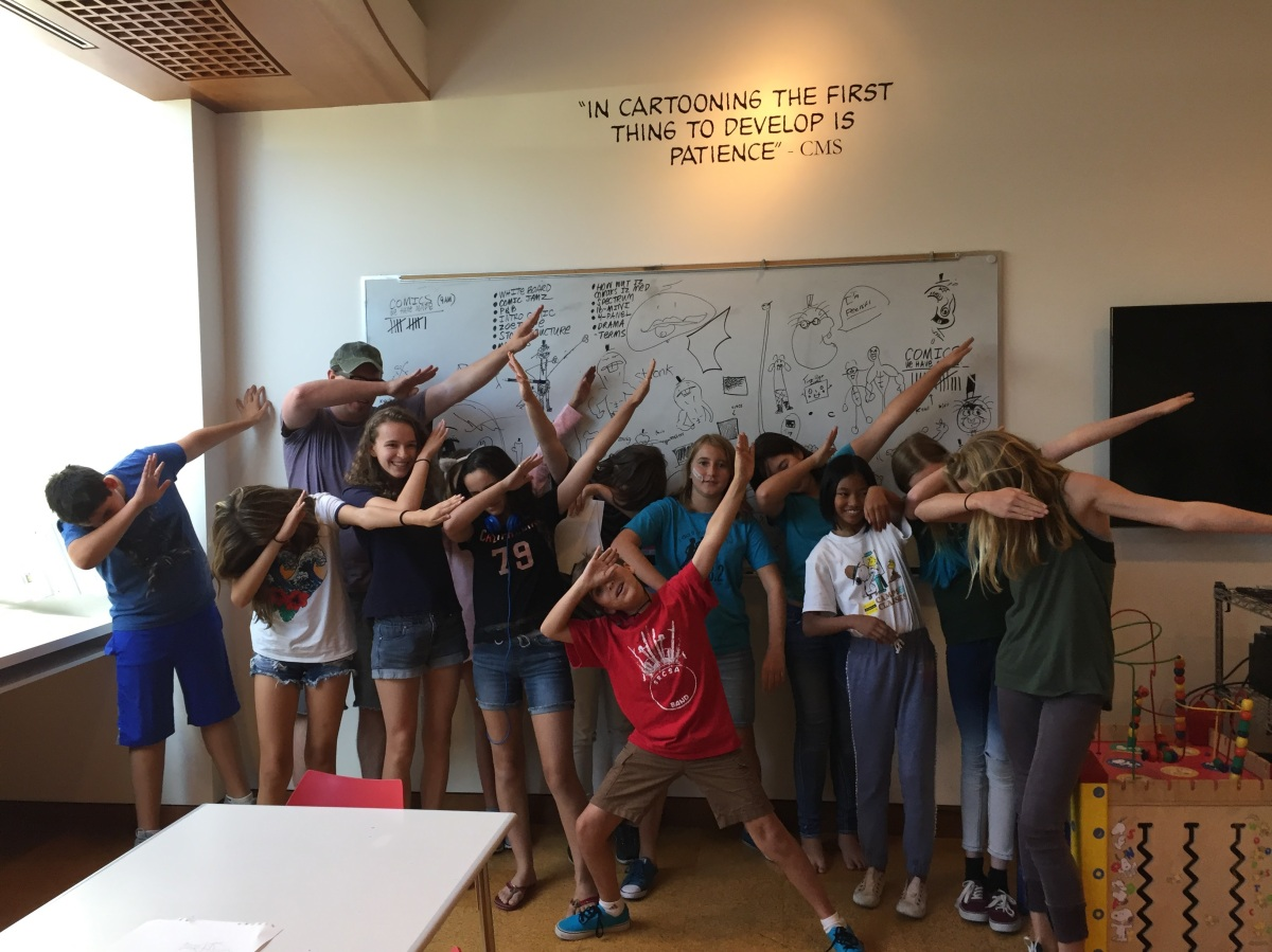 Teaching Comics Workshops at the Charles M. Schulz Museum