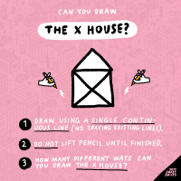 Drawing Game: Can You Draw the X House?